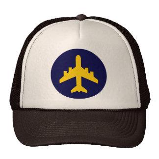 Airplane Symbol in Circle Cap