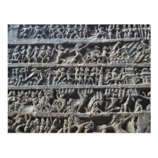 Ajanta Caves Hindu Sculpture Photo Print Postcard