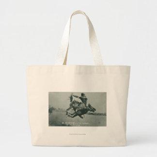 Al Wilkenson riding Torpedo. Jumbo Tote Bag
