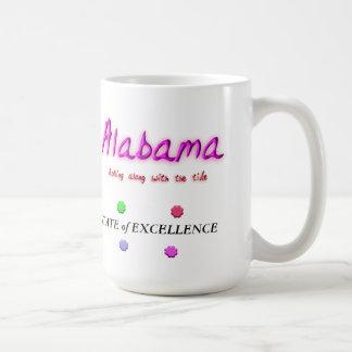 Alabama State of Excellence Basic White Mug