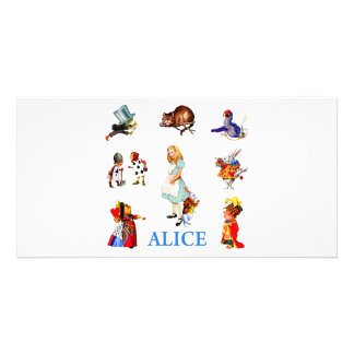 ALICE AND FRIENDS PHOTO CARD TEMPLATE