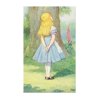 Alice and the Cheshire Cat Stretched Canvas Print