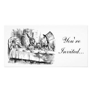 Alice In Wonderland Mad Tea Party Invitation Photo Greeting Card
