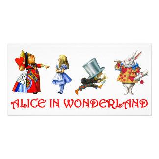 ALICE IN WONDERLAND PHOTO CARD TEMPLATE