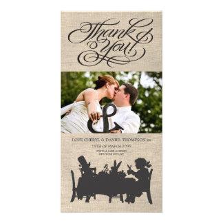 Alice in Wonderland Wedding Thank You Photo Card