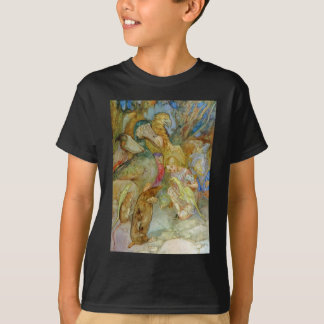 ALICE PREPARES TO JOIN THE CAUCUS RACE TEE SHIRTS