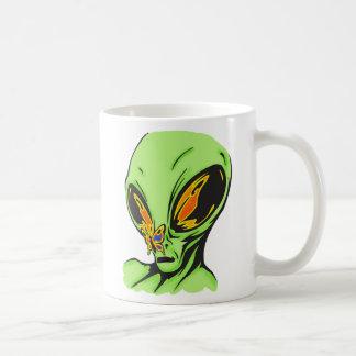 Alien and Butterfly Basic White Mug