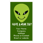 Alien Smiley Face Business - Profile Card Pack Of Standard Business Cards