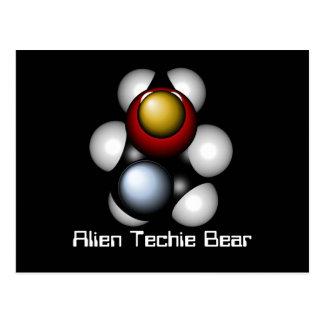 Alien Techie Bear Postcard