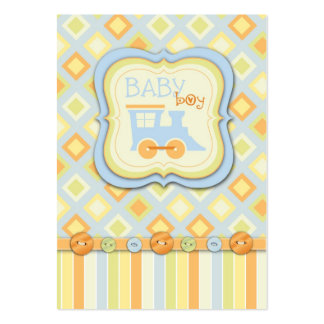 All Aboard Train Baby Shower Pack Of Chubby Business Cards