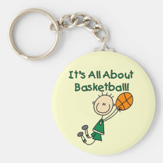 All About Basketball Tshirts and Gifts Basic Round Button Key Ring