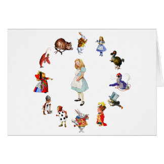 ALL AROUND ALICE GREETING CARD