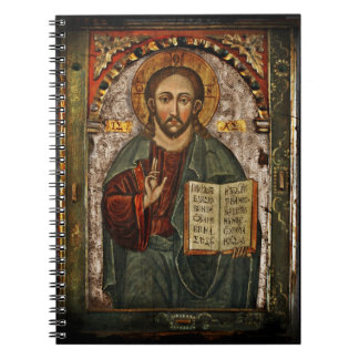 All Powerful Christ - Chrystus Pantokrator Spiral Notebooks