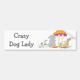 All Proceeds to Animal Charity Crazy Dog Lady Bumper Sticker