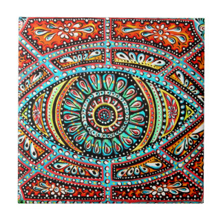 All Seeing Eye Small Square Tile