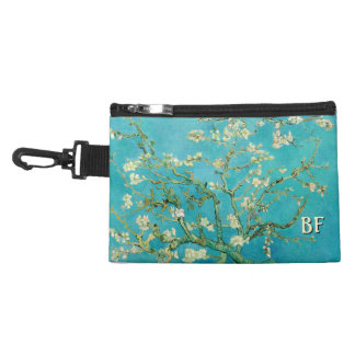 Almond Blossoms with your Initials Accessory Bags