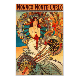 Alphonse Mucha Monte Carlo Print Photograph