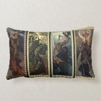 Alphonse Mucha The Moon And The Stars Cushions
