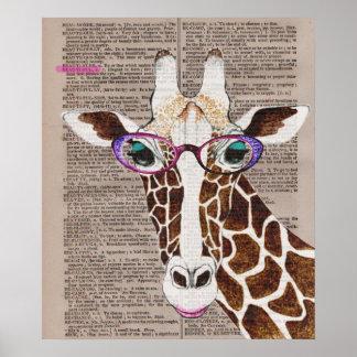 Altered Art Funky Giraffe Poster