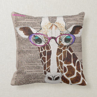 Altered Art Funky Giraffe Throw Pillow Cushion