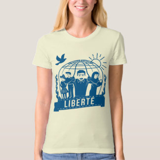 ALTERMONDIALISME LIBERTÉ/FREEDOM - FRANCE T-SHIRT