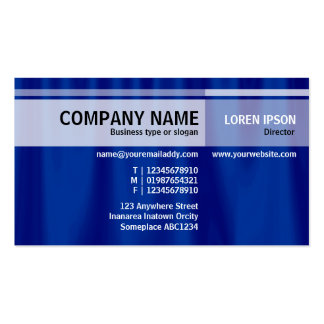 Alternate Tones - Blue Curtain Pack Of Standard Business Cards