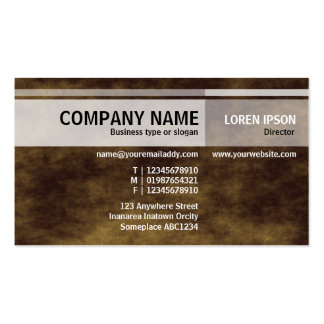 Alternate Tones - Planet Brown Pack Of Standard Business Cards