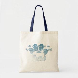 American Bulldog Granddog Budget Tote Bag