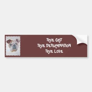 American Bulldog Stamp Motif Bumper Sticker