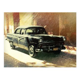 American car in Havana, Cuba postcard