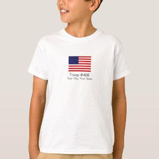 American Flag Boy Scout Troop Shirt
