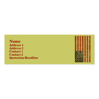 American Flag Profile Cards Pack Of Skinny Business Cards
