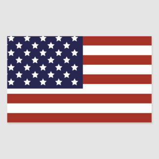 American Flag Rectangular Sticker