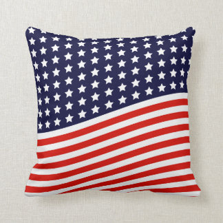 American Flag - Red, White and Blue USA Throw Cushions