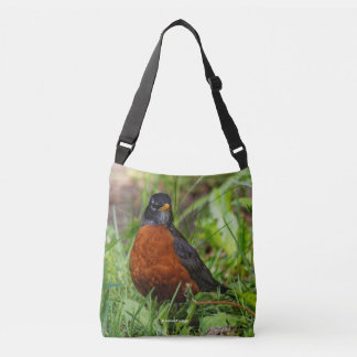 American Robin at the Picnic Table Tote Bag