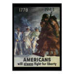 Americans Fight World War 2 Poster