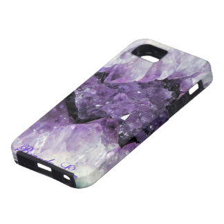 Amethyst Geode 3D iPhone 5 case Personalize*