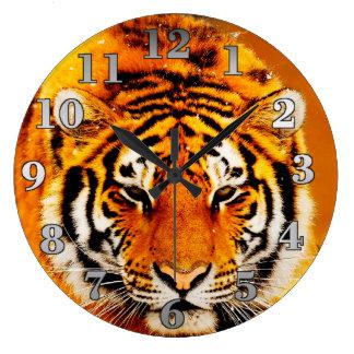 Amur Tiger Round Wall Clock