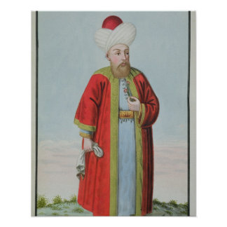 Amurath (Murad) II (1404-51) Sultan 1421-51, from Poster