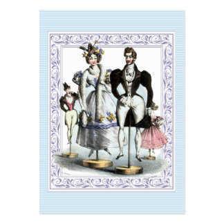 Amusing Vintage French Fashion Family of Dolls Pack Of Chubby Business Cards