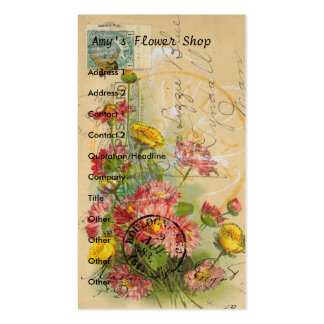Amy's Flower Shop Pack Of Standard Business Cards