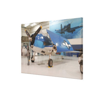An F-6F Hellcat World War II fighter plane at Canvas Print