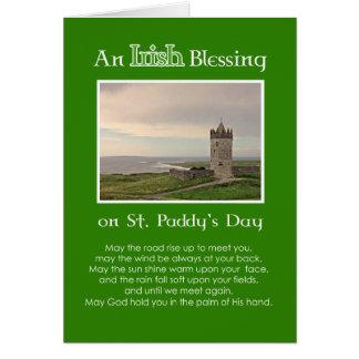 An Irish Blessing St. Patrick's Day-Custom Photo Greeting Card