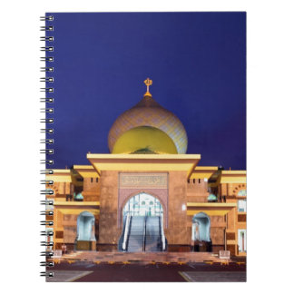 An Nur golden Mosque Pekanbaru, Sumatra Spiral Note Books