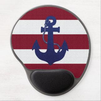 Anchor & stripes gel mousepad