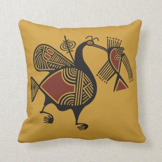 Ancient Cypriot pelican motif throw pillow Throw Cushion