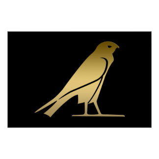 Ancient Egyptian bird – goddess Nekhbet Poster