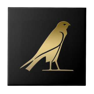 Ancient Egyptian bird – goddess Nekhbet Small Square Tile