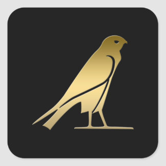Ancient Egyptian bird – goddess Nekhbet Square Sticker