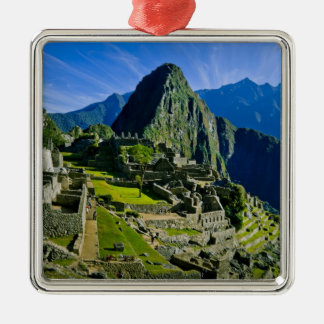 Ancient Machu Picchu, last refuge of the 2 Silver-Colored Square Decoration